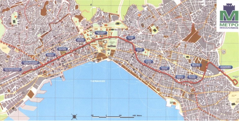 Thessaloniki Metro Map 2002