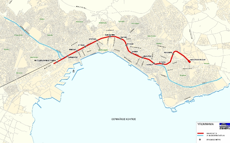 Thessaloniki Metro Map 2006